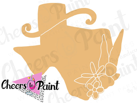 Unfinished- Texas Wild Flowers Wood Cutout