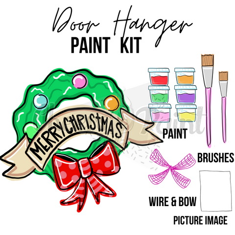Christmas Wreath- DIY Door Hanger Paint Kit