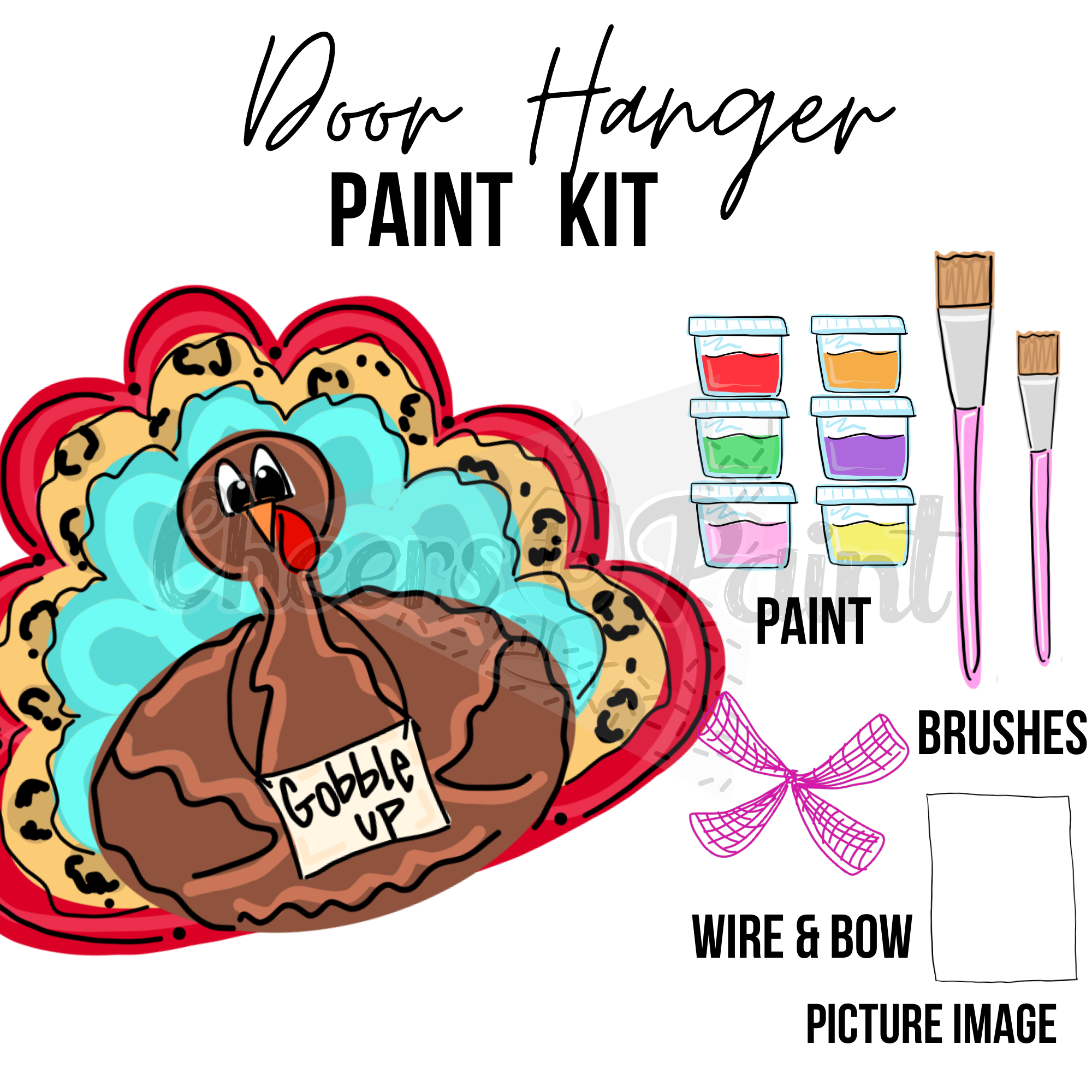 Funky Turkey- DIY Door Hanger Paint Kit