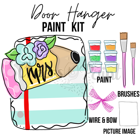 Pencil & Paper- DIY Door Hanger Paint Kit