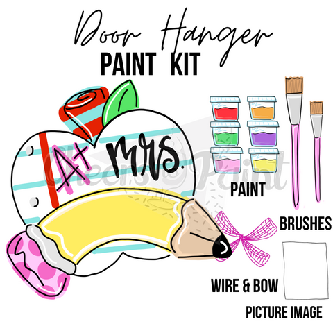 Pencil & Apple- DIY Door Hanger Paint Kit