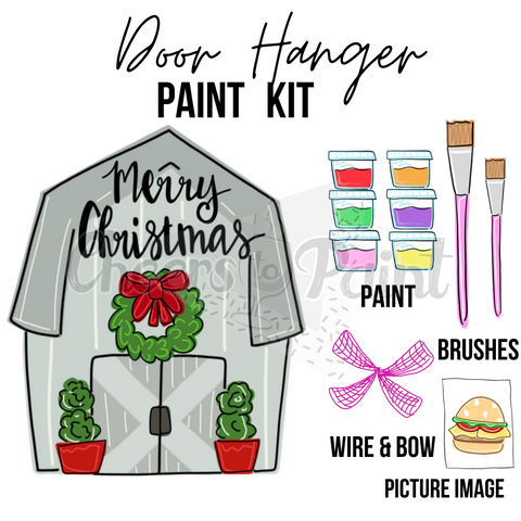 Christmas Barn -DIY Door Hanger Paint Kit