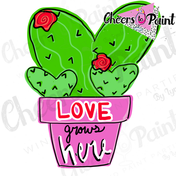Unfinished- Cactus Love Wood Cutout
