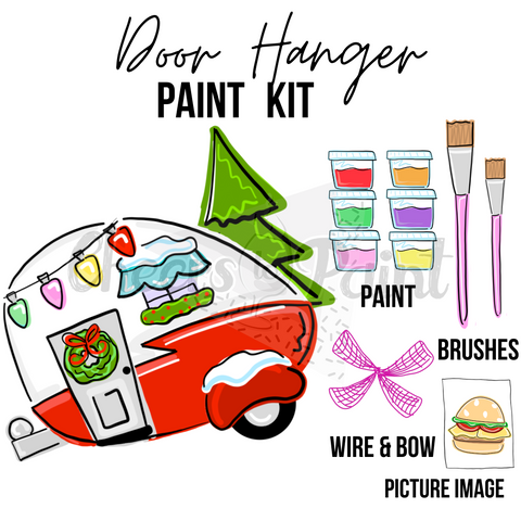 Christmas Camper- DIY Door Hanger Paint Kit
