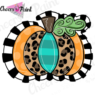 Unfinished- Cheetah Pumpkin Style 3 Wood Cutout