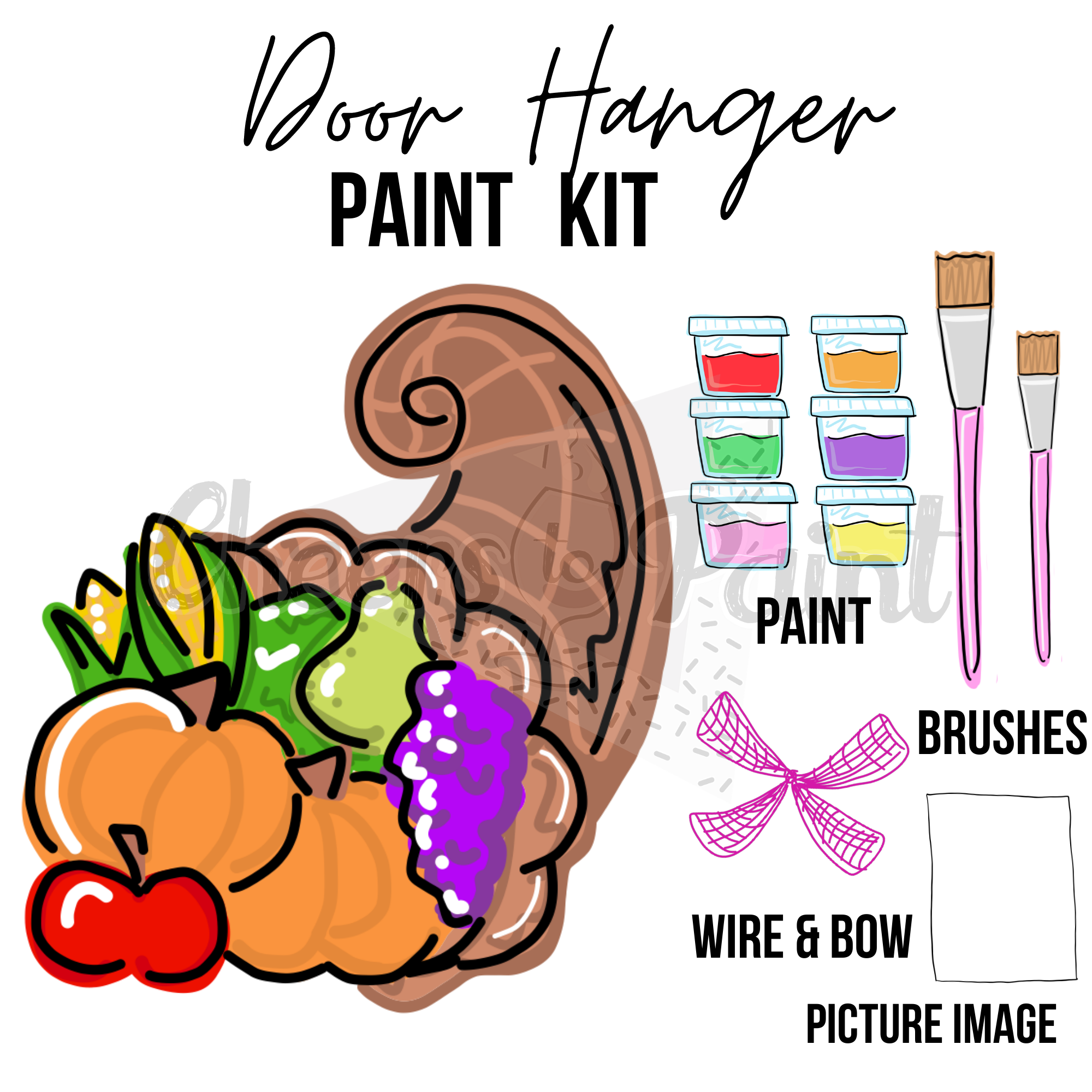 Cornucopia - DIY Door Hanger Paint Kit