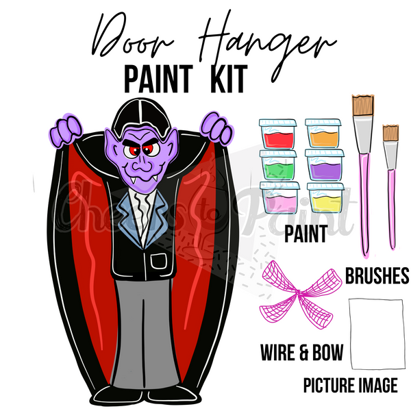 Dracula- DIY Door Hanger Paint Kit
