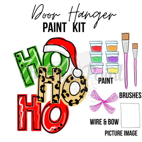 Ho Ho Ho- DIY Door Hanger Paint Kit