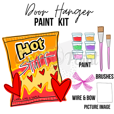 Hot Chip Bag- DIY Door Hanger Paint Kit