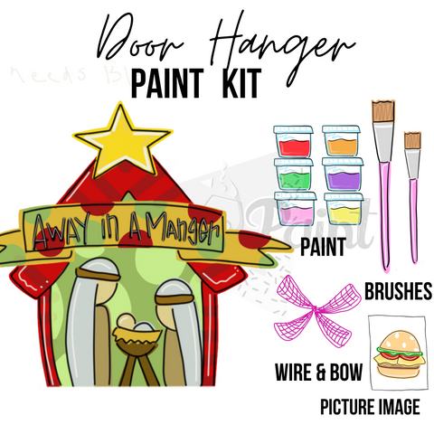Away In A Manger- DIY Door Hanger Paint Kit