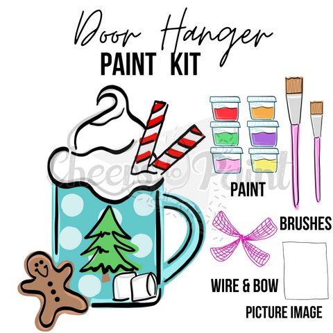Frosted Mug- DIY Door Hanger Paint Kit