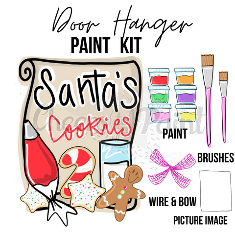 Santa Cookies- DIY Door Hanger Paint Kit