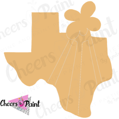 Unfinished- Texas Oil Wood Cutout