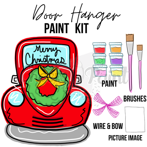 Christmas Truck- DIY Door Hanger Paint Kit