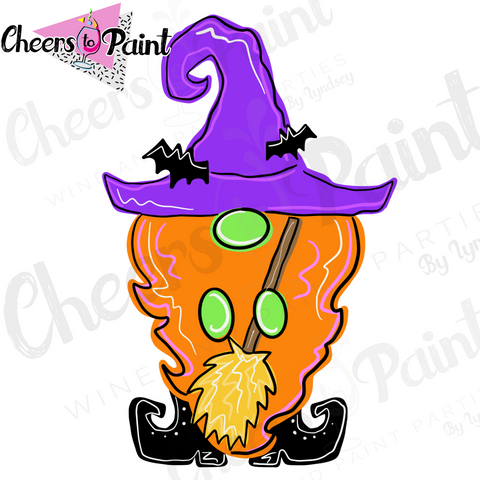 Witch Gnome Wood Cutout Paint Kit