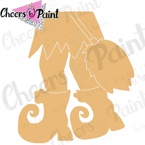 Witchy Legs Cutout Paint Kit