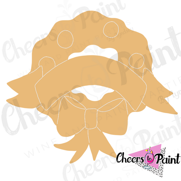 Unfinished- Christmas Wreath Wood Cutout