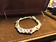 Load image into Gallery viewer, 14k Gold Multi Color Stone Ladies Bracelet