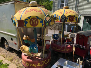 Vintage 1960's Mcdonald's Playland Carousels