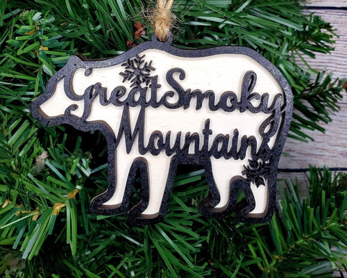Great Smoky Mountains Bear Ornament