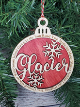 Load image into Gallery viewer, Glacier National Park Round Ornament