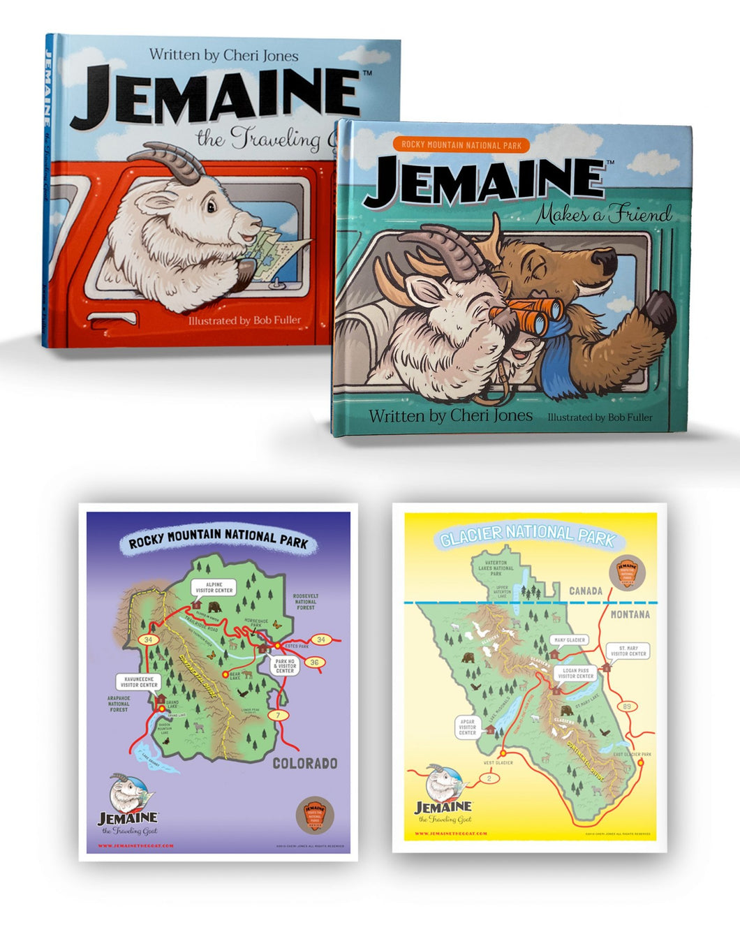 Jemaine Book Set Plus 2 Free Maps