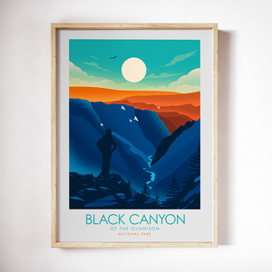 Black Canyon of the Gunnison National Park Print Poster