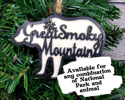Custom National Park Wildlife Ornament