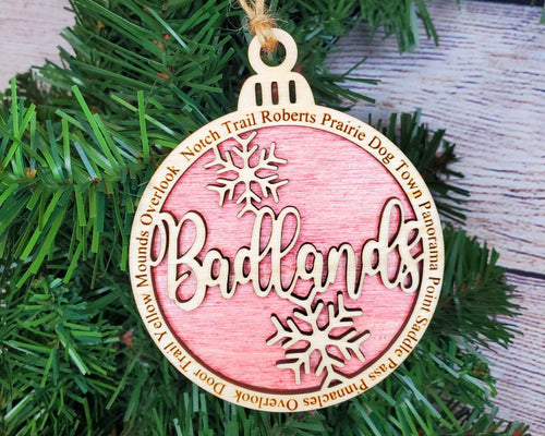 Badlands National Park Round Ornament