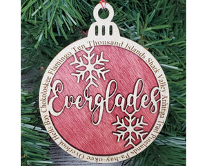 Everglades National Park Round Ornament