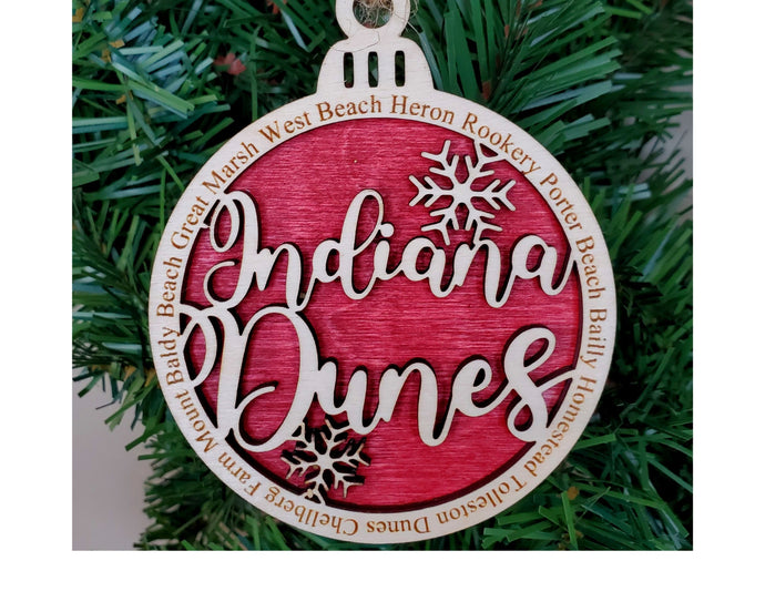 Indiana Dunes National Park Round Ornament