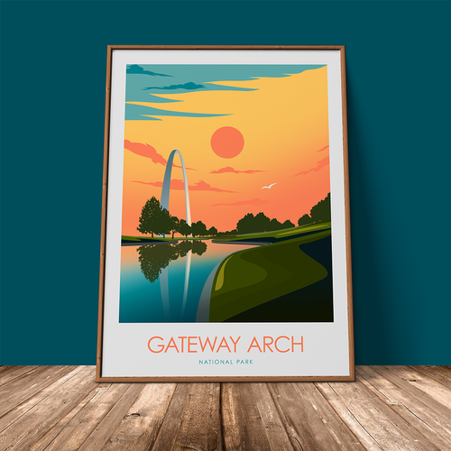 Gateway Arch National Park Print Poster