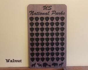 63 National Park Checklist / US National Parks Bucket List Board / FREE SHIPPING / Track your parks adventure