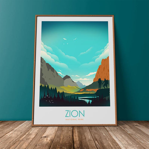 Zion National Park Print Poster