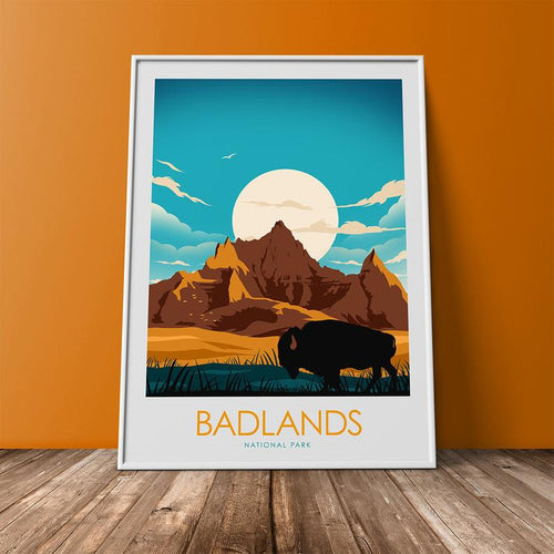 Badlands National Park Print Poster