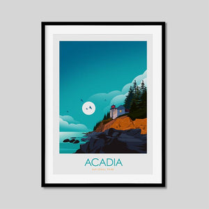 Acadia National Park Print Poster