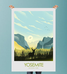 Yosemite National Park Print Poster