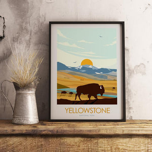 Yellowstone National Park Print Poster