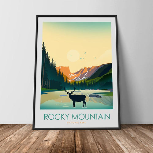 Rocky Mountain National Park Print Poster