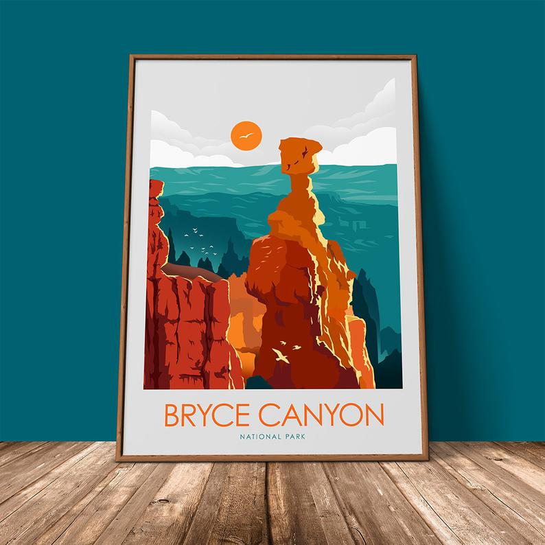 Bryce Canyon National Park Print Poster