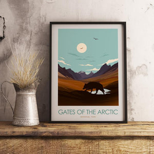 Gates of the Arctic National Park Print Poster