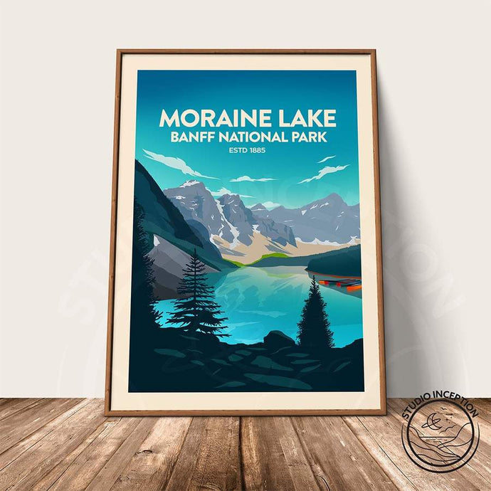 Banff National Park - Moraine Lake Print Poster