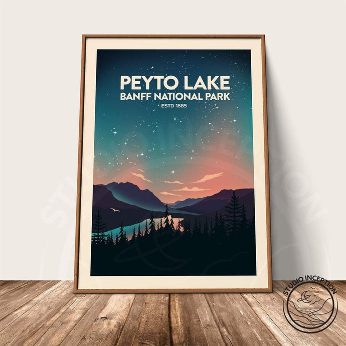 Banff National Park - Peyto Lake Print Poster