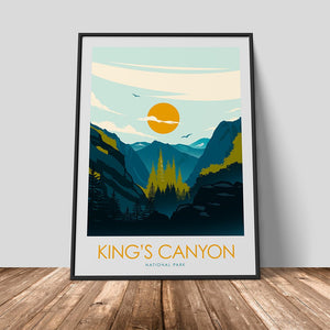 Kings Canyon National Park Print Poster