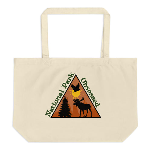 Large National Park Obsessed Logo tote bag