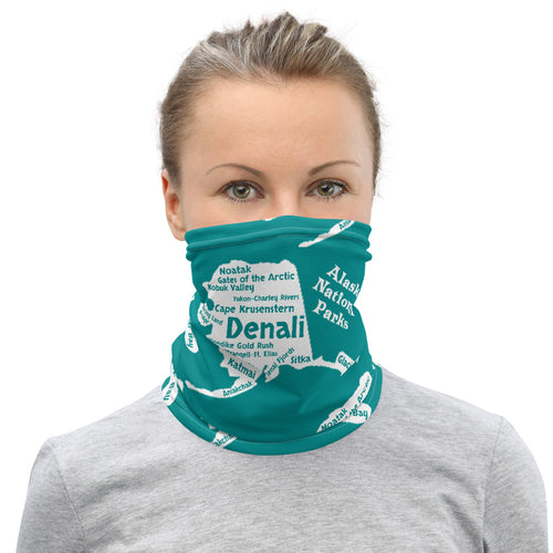 Alaska National Parks Neck Gaiter - Aqua