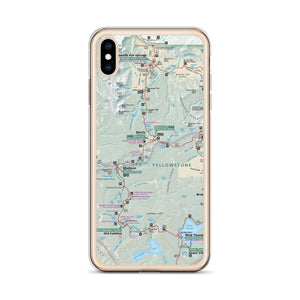 Yellowstone Map iPhone Case