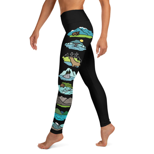 Alaska National Parks Yoga Leggings
