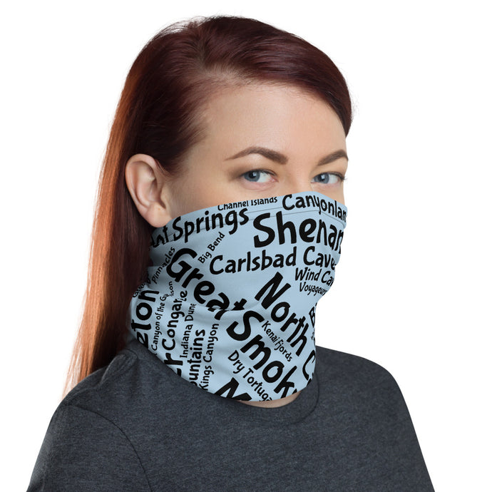 62 National Park Neck Gaiter - Pale Cornflower Blue