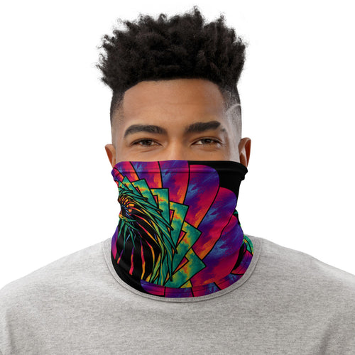 Prismatic Peacock Neck Gaiter